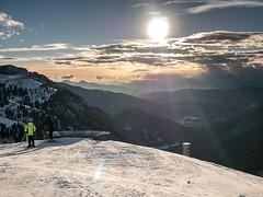 View from Passo Feudo, Dolomiti, Italy (msadurski) Tags: snow skiing winter mountains lumix gm5 1232 ski