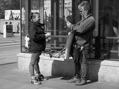 Trinkets (Franco & Lia) Tags: street strasenfotografie fotografiadistrada photographiederue berlin alexanderplatz berlino deutschland germany germania biancoenero schwarzundweiss noiretblanc blackwhite trinkets
