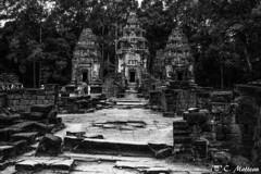 180728-004 Preah Ko (2018 Trip) (clamato39) Tags: preahko roluosgroup angkor cambodge cambodia asia asie old ancient ancestrale ruines ruins temple religieux religion patrimoine landmark voyage trip blackandwhite noiretblanc bw monochrome