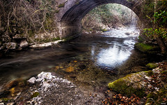 El puentecito (candi...) Tags: puente rio agua bosque sonya77ii arco rocas naturaleza nature hierba airelibre