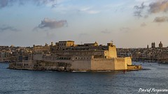 Fort St.Angelo at Sunset (Daveoffshore) Tags: malta valletta fort bay harbour stangelo