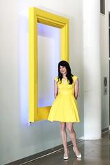 Yellow Dress 3 (Hannah McKnight) Tags: tgirl transgender transgirl model crossdress crossdresser stilettos