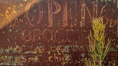 Rusty Sign (lorinleecary) Tags: cambria rust printing words ghostsign centralcoastcalifornia california