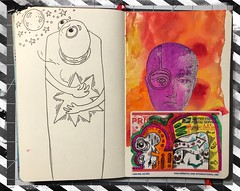 More Journal Play! (Brian Lapsley) Tags: sketch journal doodle draw sticker art