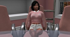 tri pi meeting (Mila Dolly Rose) Tags: tripi tri pi woodcrest meeting pink sweater shorts roleplay university sorority sl second life secondlife slavatar