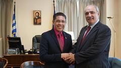 Συνάντηση Υφυπουργού Εξωτερικών, Μάρκου Μπόλαρη, με τον Αναπληρωτή Υπουργό Εξωτερικών της Σιγκαπούρης, Δρ. Mohamad Maliki Bin Osman (Αθήνα, 19.03.2019) (Υπουργείο Εξωτερικών) Tags: υπουργειοεξωτερικων υφυπεξ μπολαρησ αναπληρωτησυπουργοσεξωτερικωνσυγκαπουρησ
