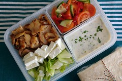 Bento 672 (Sandwood.) Tags: bento lunch lunchbox kebab dürüm vegetables sauce turkish food cooking meal dish