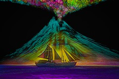 Sailing the Volcano Seas (Rusty Russ) Tags: volcano sea sailing ship pirate sail ash water black youth colorful day digital window flickr country bright happy colour eos scenic america world sunset beach sky red nature blue white tree green art light sun cloud park landscape summer city yellow people old new photoshop google bing yahoo stumbleupon getty national geographic creative composite manipulation hue pinterest blog twitter comons wiki pixel artistic topaz filter on1 sunshine image reddit tinder russ seidel facebook tumbler