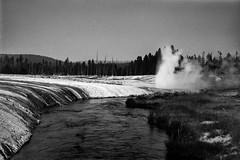 Geyser 1 (chrislon28) Tags: yellowstone yellowstonenationalpark nationalpark geyser river landscape blackandwhite canonfilm film 35mm ftb kodak plusx fd