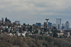 Early Spring Seattle Views 4 (C.M. Keiner) Tags: seattle washington usa city cityscape skyline mountains pacific northwest puget sound spring trees blossoms urban magnolia streetscape cherry