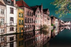 The Leie in Ghent (aantwaarpe) Tags: groen