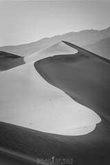 Simplistic Bliss (ihikesandiego) Tags: blackandwhitephotography mesquite sand dunes death valley national park