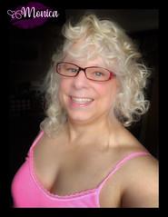 Pretty in Pink (Monica E Lopez) Tags: androgyny androgynous sissy tg ts tv tgirl trans transexual transgender transsexual transvestite ladyboy shemale genderbender gurl m2f mtf feminization crossdress crossdresser femme feminine feminized hrt hormones passable pink tanktop glasses curls curly
