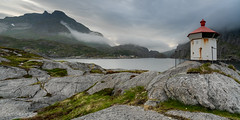 Little lighthouse of Nusfjord (Norway) (christian.rey) Tags: nordland norvège no lofoten islands phare nusfjord paysage seascape landscape sony alpha a7r2 a7rii 1635 fjord lighthouse
