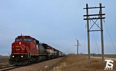 1/2 CN 2151 Leads WB L571 Manifest Williams, IA 12-21-18 (KansasScanner) Tags: iowafalls alden iowa williams cn bcol train railroad cic