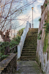 Saturday for Stairs (Janos Kertesz) Tags: architecture stairs stone ancient old wall steps stairway staircase tourism stair travel walk outdoor up vejerdelafrontera andalusia spain