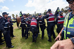 JMP_9074 (Julian Meehan) Tags: stkilda farright protest melbourne police crowd australia arrests arrest australian victoria