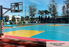 Acrylic basketball court in Philippines (ssgsportsurface) Tags: ssgsportsurface sportflooring runningtrack basketballcourt sportcourt stadium construction epdm syntheticflooring siliconpu prefabricatedrunningtrack