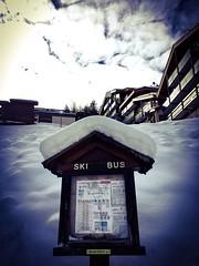 Ski bus ... (Navis06) Tags: nuages ciel chalets bois blanc alpes montagne neige courchevel