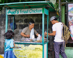 Ayel's Fried Chicken (Beegee49) Tags: street fried chicken food woman child filipina man customer stand snacks happy planet sony a6000 silay city philippines asia happyplanet asiafavorites