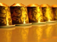 Brew (ryorii) Tags: capsules capsule capsula coffee caffè blend miscela venetia venezia golden gold arabesque reflection dorato oro arabeschi arabesco brew macromondays canon macro mm hmm