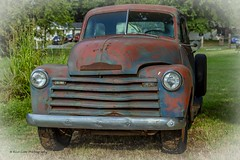 Alone but not Forgotten (Kool Cats Photography over 11 Million Views) Tags: chevy pickup truck rusted rust rusty abandoned classiccar classic oklahoma outdoor windows windshield bumper headlights headlamps photography grass oktraveltakeover