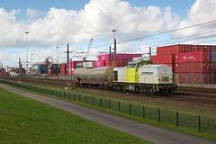 Captrain 203-104 - Rotterdam (rvdbreevaart) Tags: captrain v100 diesellocomotief diesel rotterdam havenspoorlijn trein cargo train railway eisenbahn ferrovie rawtherapee
