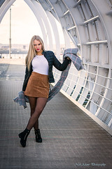 On the bridge (Neil Adams Photography (Wirral)) Tags: young model sensual beautiful elegant girl female woman outdoor outside stunning sexy