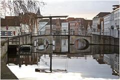 Lift Bridge, Bruges (@WineAlchemy1) Tags: bridge potterierei belgium bruges brugge flanders vlaanderen canal reflections water calm winter