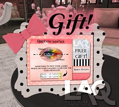 NEW Gift! LAQ Lashes! (Tarani Tempest) Tags: secondlife shinystuffs laq