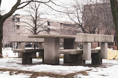 Brutalist Picnic (RW Sinclair) Tags: 2019 chicago february fuji fujifilm fujinon ilc mirrorless winter xt1 xf xf1855 zoom architecture brutalism brutalist building