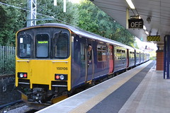 Northern Sprinter 150106 (Will Swain) Tags: station 5th july 2018 salford crescent greater manchester city centre north west train trains rail railway railways transport travel uk britain vehicle vehicles england english europe northern sprinter 150 arriva group class 150106 106
