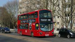 Starting Its Trip (londonbusexplorer) Tags: arriva london vdl db300 wrightbus gemini 2 dw444 lj11aae 99 woolwich bexleyheath shopping centre tfl buses