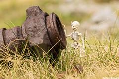 Finding some man stuff... (EatMyBones) Tags: figurine mercantour miniature nature poseskeleton rement skeleton snow toy toyphotography