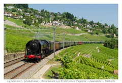 141 R 568 - Grandvaux (CC72080) Tags: 141r 568 sncf historic grandvaux vapeur locomotive lokomotive dampflokomotive zug personenzug extrafahrt train vignoble lavaux