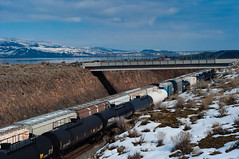 Train at the Columbia River (danialficek1) Tags: columbia river columbiariver washington 50mm d5000 nikon water trains