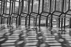 Harpa Concert Hall 4 (RobertLx) Tags: travel iceland island nordic polar europe reykjavik city modern contemporary geometric harpa concerthall building architecture deconstructivism grid shadow glass reflection monochrome bw 64