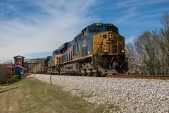 Southbound Coal (travisnewman100) Tags: csx train railroad rr freight unit coal scwx acworth georgia wa subdivision atlanta division ge es44ah n320 locomotive ac44cw caboose depot station