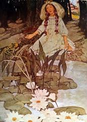 US-5873496 From BryonD (Vadimovna) Tags: сказки книжныеиллюстрации сша этельфранклин лягушка братьягримм кувшинки дети девочка болото персонажи