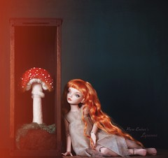 Sister 🍄 (pure_embers) Tags: pure laura embers porcelain bjd doll dolls england uk girl olgakirillova scarlett pureembers lysanne emberslysanne ovkstudiodolls photography photo ball joint portrait fine art red ginger hair scene dark mushroom box haze sister story