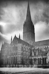 That's a lot of stone … (Redheadwondering) Tags: sonyα7ii canon40mmf28cheapadapter canon 119picturesin2019 salisbury wiltshire city cityencounters architecture blackwhite bw cathedral salisburycathedral 97stonemadeof stone 97 windows
