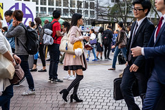 Foxy (burnt dirt) Tags: asian japan tokyo shibuya station streetphotography documentary candid portrait fujifilm xt1 bw blackandwhite laugh smile cute sexy latina young girl woman japanese korean thai dress skirt shorts jeans jacket leather pants boots heels stilettos bra stockings tights yogapants leggings couple lovers friends longhair shorthair ponytail cellphone glasses sunglasses blonde brunette redhead tattoo model train bus busstation metro city town downtown sidewalk pretty beautiful selfie fashion pregnant sweater people person costume cosplay boobs