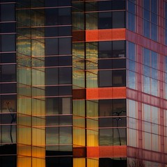 Sunset Reflection (2n2907) Tags: sunset reflection city building glass windows abstract color colorful olympus omd mirrorless