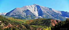 Mount Sopris (3,952 Metres), Between Carbondale & Redstone on Hwy 133, Colorado, USA (Black Diamond Images) Tags: mountsopris carbondale redstone colorado usa westernusatrip2018 2018 canond60 sigma1770 1770 panorama msice msicepanorama microsofticepanorama sky mountain landscape avalancheranch hwy133 highway133 elkmountains rockymountains pitkincounty
