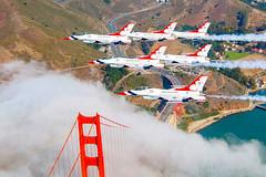 Flying Over the Golden Gate, variant (sjrankin) Tags: thunderbirds aviation formation f16 tbirds delta usafthunderbirds afthunderbirds avgeek flying formationphotos california goldengatebridge sanfrancisco unitedstates us 5february2019 edited usaf airforce unitedstatesairforce plane fighter jet 180924fta303028