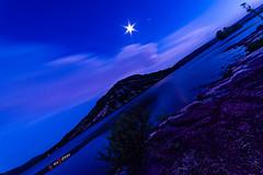 Blue shades (Photosplus _ XP) Tags: blue shades lune moon lac du salagou lake france hérault water montagne mountain colline maxime photos plus landscape paysage sun eau ciel sky rivage max pateau photosplus xp