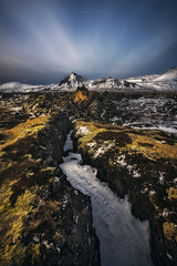 Old Lava Fields (Manuel.Martin_72) Tags: bùdir iceland enchanting magic coast fields hills hilly ice lavafield moss mountainpeaks mountains rocks stones frozen snow clouds afternoon evening