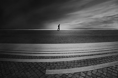 ....attheedge... (*ines_maria) Tags: urbanexploration solitude gh5 panasonic blackandwhite bw art fineart street streets water people man view sun sea sky lonely outside nature europe light landscape portugal lisboa lissabon