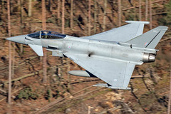 RAF Typhoon FGR4, LFA17, 26/2/19 (TheSpur8) Tags: fgr4 typhoon uk aircraft date lowlevel landlocked lakedistrict jet military anationality skarbinski transport 2019 places roughcrag