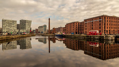 Liverpool (Ian Emerson (Thanks for all the comments and faves) Tags: liverpool royalalbertdock england docks boats liverbuilding narrowboat clouds reflection architecture indusrty water merseyside outdoor jetty warehouse tourism canon6d